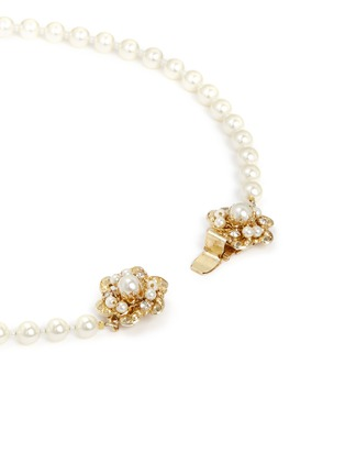 Detail View - Click To Enlarge - Miriam Haskell - Swarovski crystal glass pearl choker necklace