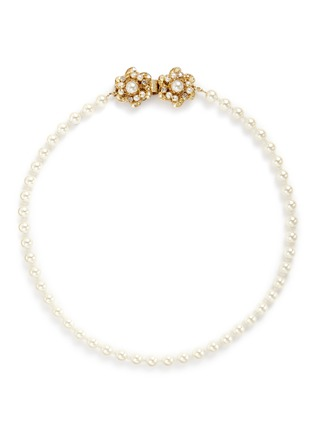 Main View - Click To Enlarge - Miriam Haskell - Swarovski crystal glass pearl choker necklace