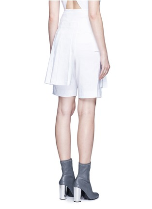 Back View - Click To Enlarge - Dkny - Inverted pleat linen skirt belt