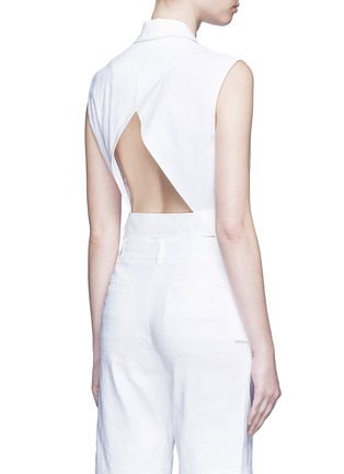 Back View - Click To Enlarge - Dkny - Open back tie waist tailored vest
