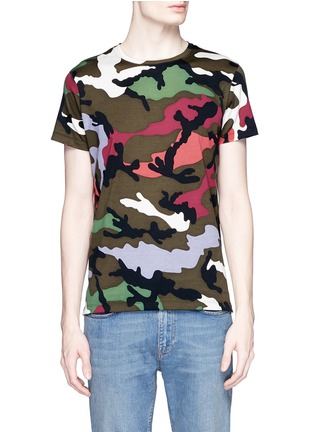 Main View - Click To Enlarge - Valentino - Camouflage print T-shirt