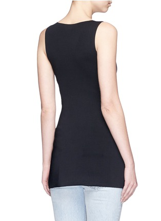 Back View - Click To Enlarge - Alexander Wang  - Asymmetric lace-up knit top