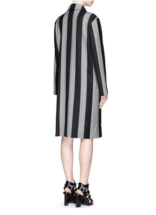 Back View - Click To Enlarge - Alexander Wang  - Micro houndstooth stripe wool car coat