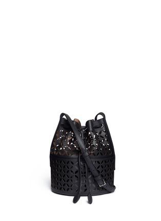 Main View - Click To Enlarge - Alaïa - 'Petale' lasercut matte leather bucket bag