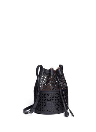Figure View - Click To Enlarge - Alaïa - 'Petale' lasercut matte leather bucket bag