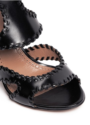 Detail View - Click To Enlarge - Alaïa - Whipstitch leather sandals