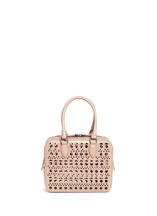 Back View - Click To Enlarge - Alaïa - 'Vienne' lasercut leather crossbody bag
