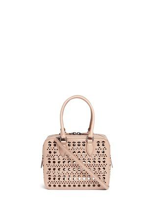Main View - Click To Enlarge - Alaïa - 'Vienne' lasercut leather crossbody bag