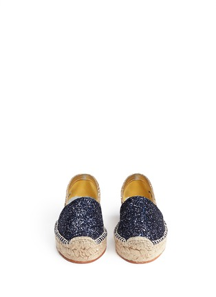 Front View - Click To Enlarge - Chiara Ferragni - 'Natalie' eye wink appliqué glitter espadrilles