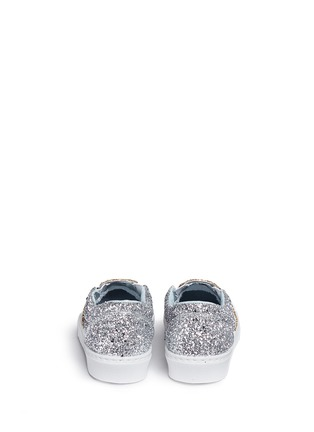Back View - Click To Enlarge - Chiara Ferragni - 'Flirting' eye wink appliqué glitter slip-ons