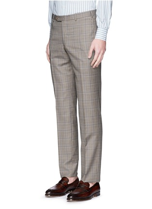 Detail View - Click To Enlarge - ISAIA - 'Gregory' tartan plaid Aquaspider wool suit