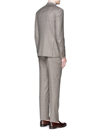Back View - Click To Enlarge - ISAIA - 'Gregory' tartan plaid Aquaspider wool suit