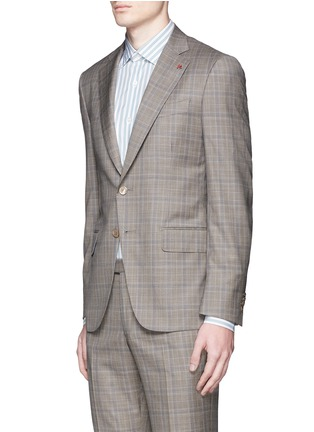 Front View - Click To Enlarge - ISAIA - 'Gregory' tartan plaid Aquaspider wool suit