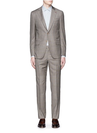 Main View - Click To Enlarge - ISAIA - 'Gregory' tartan plaid Aquaspider wool suit
