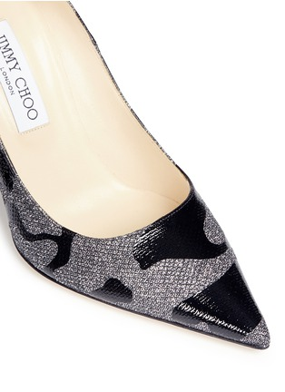 Detail View - Click To Enlarge - Jimmy Choo - 'Abel' Camo Leo coated patent leather pumps