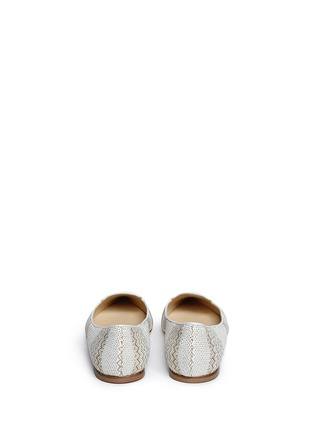 Back View - Click To Enlarge - Jimmy Choo - 'Attila' woven skimmer flats