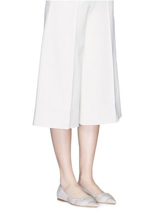 Figure View - Click To Enlarge - Jimmy Choo - 'Attila' woven skimmer flats