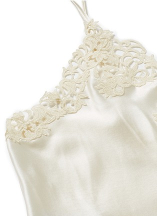 Detail View - Click To Enlarge - La Perla - 'Petit Macramé' lace silk satin dress slip