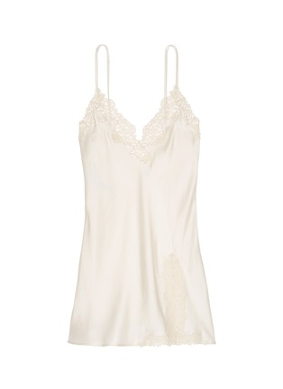 Main View - Click To Enlarge - La Perla - 'Petit Macramé' lace silk satin dress slip