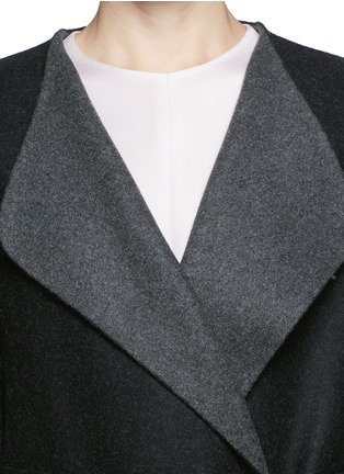 Detail View - Click To Enlarge - The Row - 'Augustus' wool melton belted wrap coat
