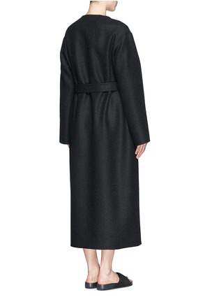 Back View - Click To Enlarge - The Row - 'Augustus' wool melton belted wrap coat