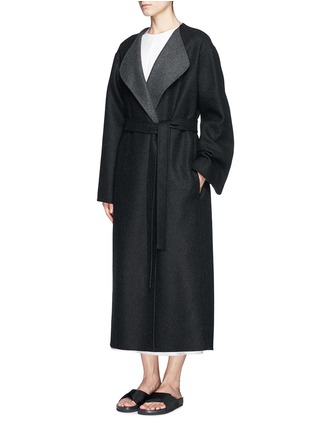 Front View - Click To Enlarge - The Row - 'Augustus' wool melton belted wrap coat