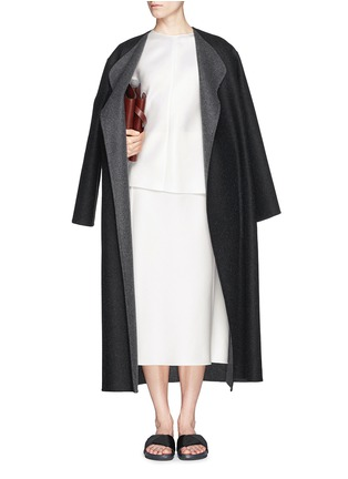 Figure View - Click To Enlarge - The Row - 'Augustus' wool melton belted wrap coat