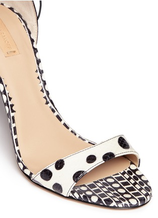 Detail View - Click To Enlarge - REED KRAKOFF - Snakeskin leather ankle wrap sandals