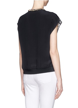 Back View - Click To Enlarge - 3.1 Phillip Lim - Embellished neckline printed front top