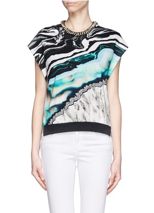 Main View - Click To Enlarge - 3.1 Phillip Lim - Embellished neckline printed front top