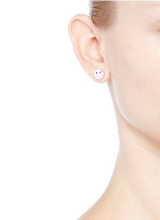 Figure View - Click To Enlarge - Ruifier - 'Merry' sterling silver chain stud earrings