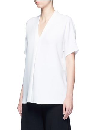 Front View - Click To Enlarge - Vince - Pintuck pleat V-neck blouse