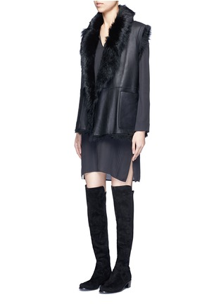 Figure View - Click To Enlarge - VINCE - Pintuck pleat silk tunic dress