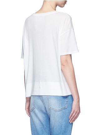 Back View - Click To Enlarge - Vince - Pima cotton banded hem T-shirt
