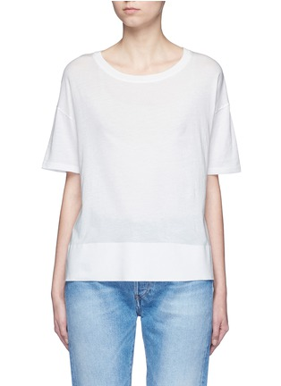 Main View - Click To Enlarge - Vince - Pima cotton banded hem T-shirt