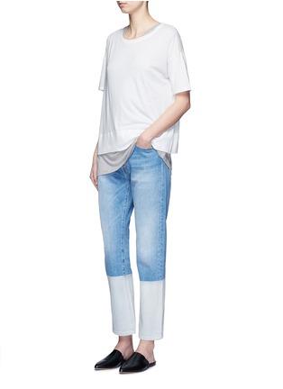 Figure View - Click To Enlarge - VINCE - Pima cotton banded hem T-shirt