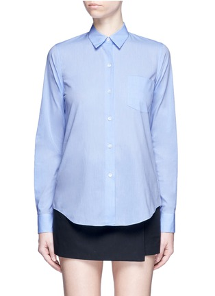 Main View - Click To Enlarge - Theory - 'Perfect' box pleat cotton shirt