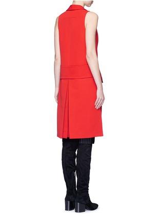 Back View - Click To Enlarge - Givenchy - Wool grain de poudre vest