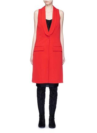 Main View - Click To Enlarge - Givenchy - Wool grain de poudre vest