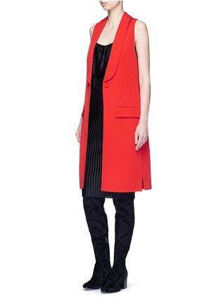 Figure View - Click To Enlarge - Givenchy - Wool grain de poudre vest