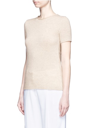 Front View - Click To Enlarge - THEORY - 'Tolleree' cashmere short sleeve sweater