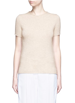 Main View - Click To Enlarge - THEORY - 'Tolleree' cashmere short sleeve sweater