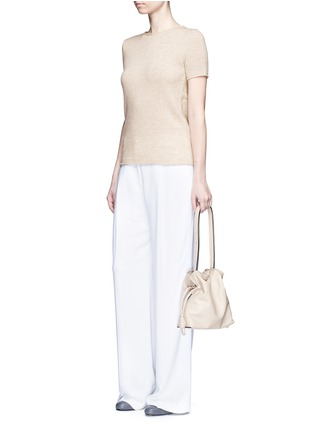 Figure View - Click To Enlarge - THEORY - 'Tolleree' cashmere short sleeve sweater