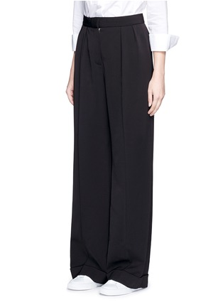 Front View - Click To Enlarge - STELLA MCCARTNEY - Tailored dry wool wide leg trousers