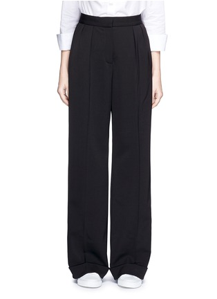 Main View - Click To Enlarge - STELLA MCCARTNEY - Tailored dry wool wide leg trousers