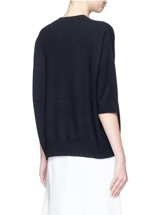 Back View - Click To Enlarge - Vince - 3/4 sleeve cashmere sweater
