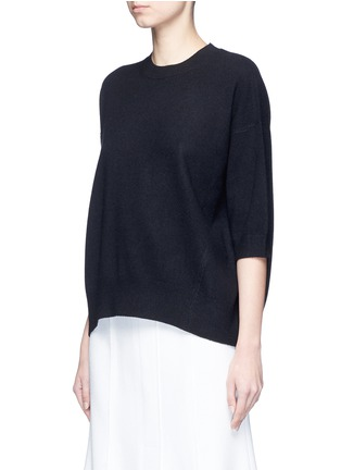 Front View - Click To Enlarge - VINCE - 3/4 sleeve cashmere sweater