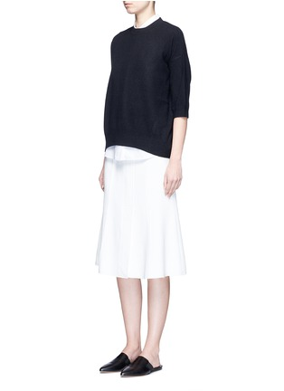 Figure View - Click To Enlarge - Vince - 3/4 sleeve cashmere sweater