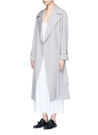Figure View - Click To Enlarge - The Row - 'Swells' belted gabardine coat