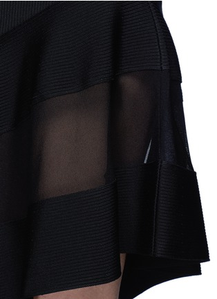 Detail View - Click To Enlarge - Givenchy Beauty - Contrast mesh panel knit dress